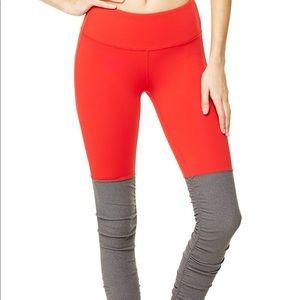 Alo goddess legging - red/gray Size S